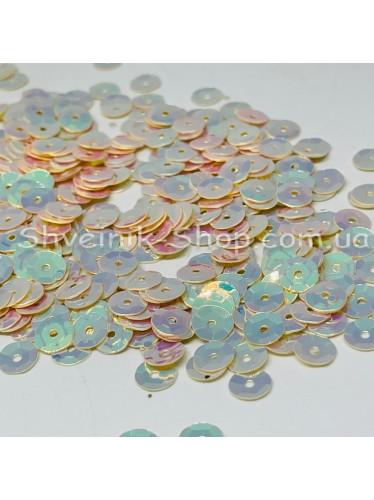 Паетка россыпью круг Цвет: бежевый Размер: диаметр 0,6 см в упаковке 500г цена за упаковку