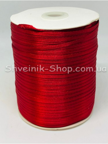 Лента атласная (Сатиновая лента) Ширина 0,3 см Цвет: Бордо  в упаковке 920 метров цена за упаковку