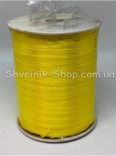 Лента атласная (Сатиновая лента) Ширина 0,3 см Цвет: Жёлтый   в упаковке 920 метров цена за упаковку