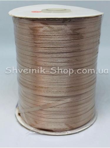 Лента атласная (Сатиновая лента) Ширина 0,3 см Цвет:  Бежевый  в упаковке 920 метров цена за упаковку