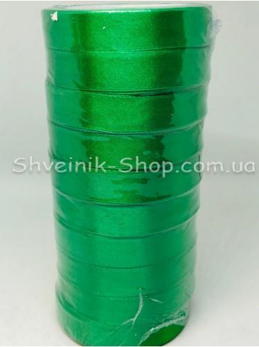 Лента атласная (Сатиновая лента) Ширина 2см Цвет: Зелёный  в упаковке 230 метров цена за упаковку
