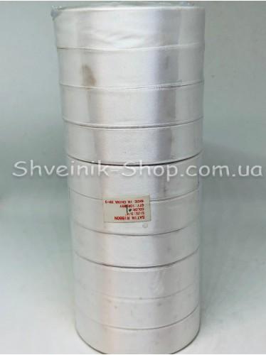 Лента атласная (Сатиновая лента) Ширина 2см Цвет: Белый в упаковке 230 метров цена за упаковку