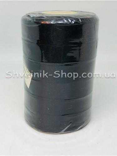 Лента атласная (Сатиновая лента) Ширина 2см Цвет: Чёрный в упаковке 138 метров цена за упаковку