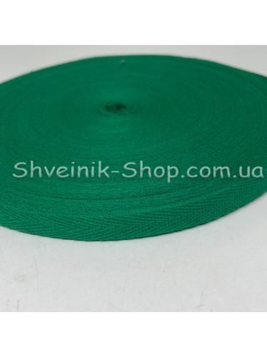Киперная лента х/б ширина 1,0 см в упаковке 46м Цвет: зеленый