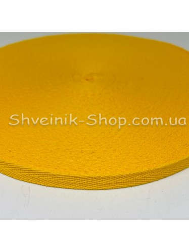 Киперная лента х/б ширина 1,0 см в упаковке 46м Цвет: желтый