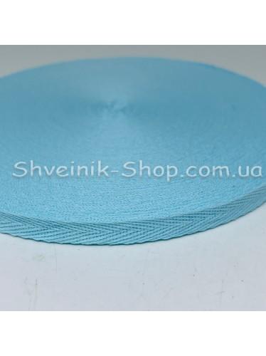 Киперная лента х/б ширина 1,0 см в упаковке 46м Цвет: бирюзовый