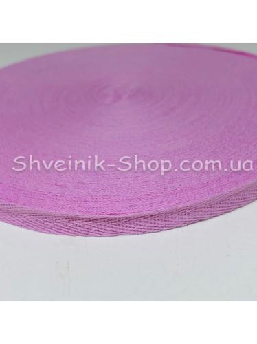 Киперная лента х/б ширина 1,0 см в упаковке 46м Цвет: розовая пудра