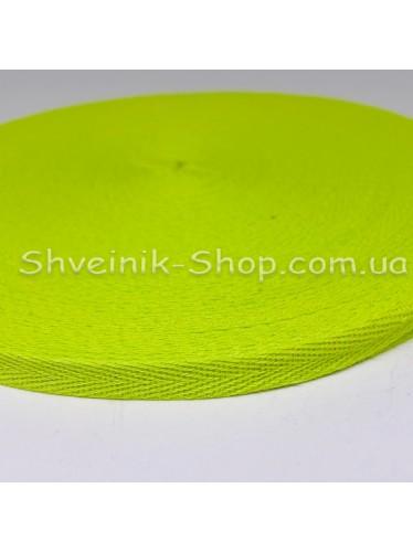 Киперная лента х/б ширина 1,0 см в упаковке 46м Цвет: салатовый лайм