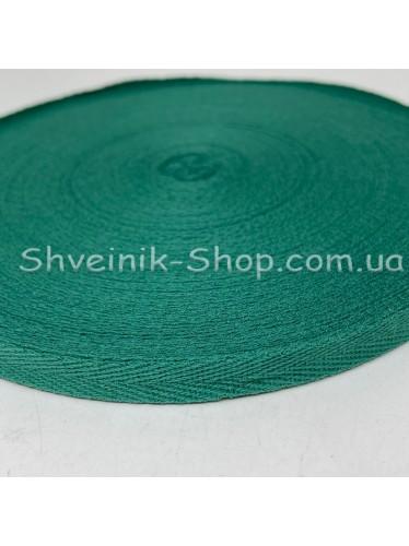 Киперная лента х/б ширина 1,0 см в упаковке 46м Цвет: темно зеленый