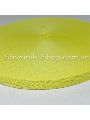 Киперная лента х/б ширина 1,0 см в упаковке 46м Цвет: светло желтый
