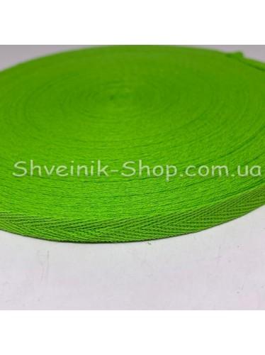 Киперная лента х/б ширина 1,0 см в упаковке 46м Цвет: салатовый