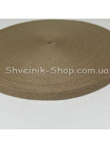 Киперная лента х/б ширина 1,0 см в упаковке 46м Цвет: бежевый
