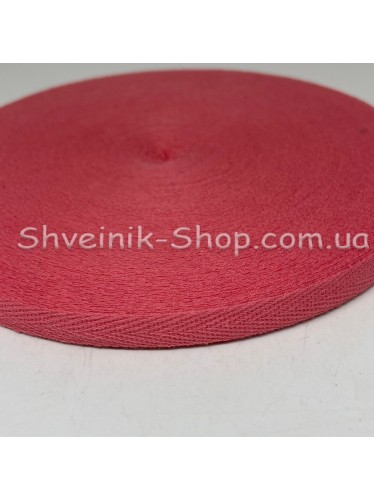 Киперная лента х/б ширина 1,0 см в упаковке 46м Цвет: коралл
