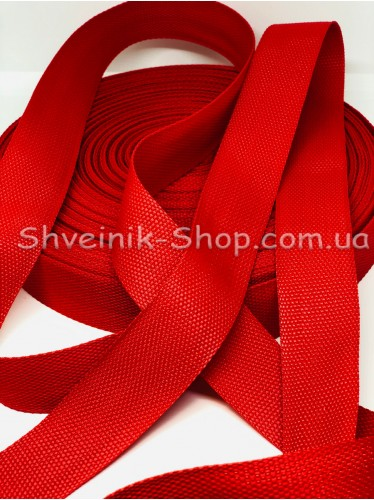 Стропа 38мм Цвет Красная в упаковке 46 метров