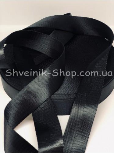 Стропа Шелк 30мм Цвет Черный в упаковке 46 метров