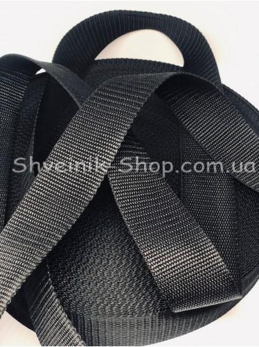 Стропа  38мм Цвет Черный в упаковке 46 метров