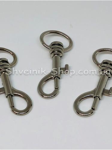 Карабин Размер Длина 5 см Ширина кольца 2 см цвет Серебро в упаковке 100 штук
