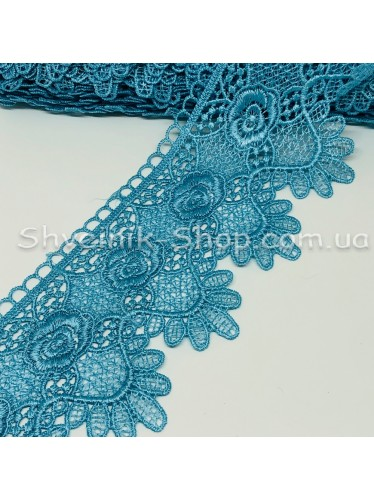 Кружево взяное  Размер : 10 см в упаковке 13,8 метров цвет : Голубой