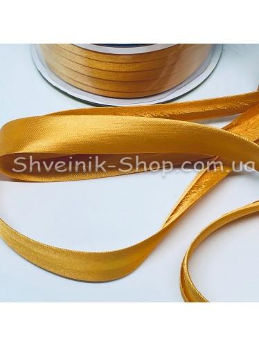 Бейка Размер 1,5 см в упаковке 110 метров Цвет : Золото Яркое
