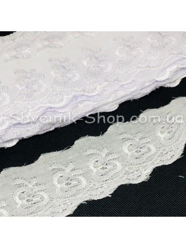 Прошва (Батист) Размер 4,5 см Цвет : Белое в упаковке 13,8 метров