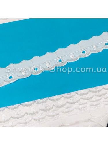 Прошва (Батист) Размер 2  см Цвет : Белый в упаковке 46 метров