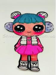 Аппликация пришивная Кукла Лол на ткани в упаковке 20 штук цена за упаковку