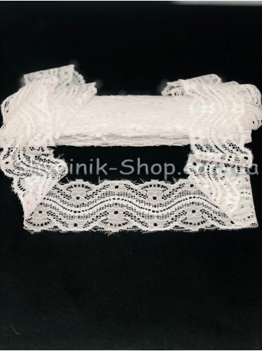 Кружево стрейчивое ширина 5.5см цвет : Белый в упаковке  9.2метра цена за упаковку