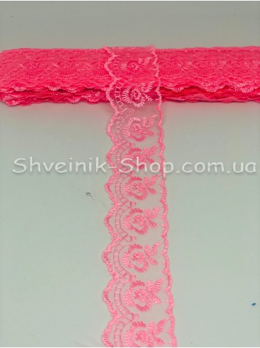 кружево органза ширина 4 см Цвет: Розовый 9,2 метров цена за упаковку