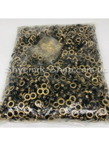 Блочка #4 c подставкой Диаметр внутренний : 7мм Цвет :  Антик в упаковке 4000 штук цена за упаковку ( Китай)