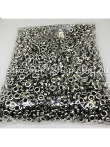 Блочка #4 c подставкой Диаметр внутренний : 7мм Цвет :  Серебро в упаковке 4000 штук цена за упаковку ( Китай)