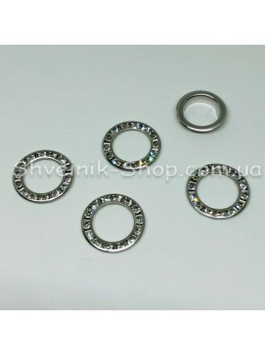 Блочка #28 c Камнем Диаметр внутренний : 15мм Цвет :  Серебро  в упаковке 1000 штук цена за упаковку