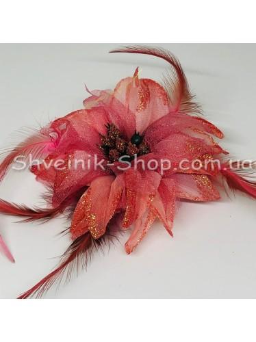 Цветы на булавке диаметр 9 см  цена за шт Цвет: розовый