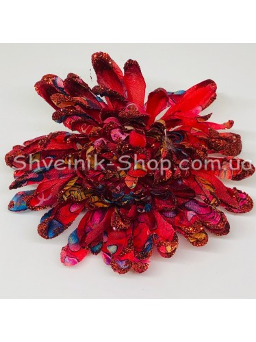Цветы на булавке диаметр 9 см цена за шт Цвет: бордо