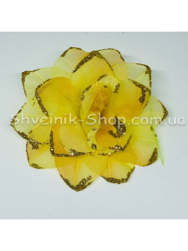 Цветы на булавке диаметр 7 см цена за шт Цвет: золото
