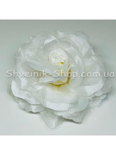 Цветы на булавке диаметр 12 см цена за шт Цвет: белый