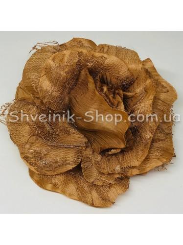 Цветы на булавке диаметр 12 см цена за шт Цвет: бежевый