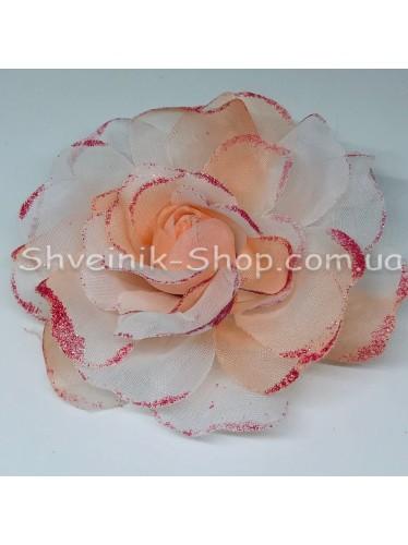 Цветы на булавке диаметр 12 см цена за шт Цвет: персик