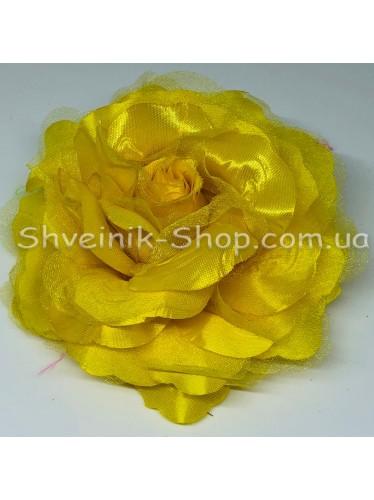 Цветы на булавке диаметр 12 см цена за шт Цвет: желтый