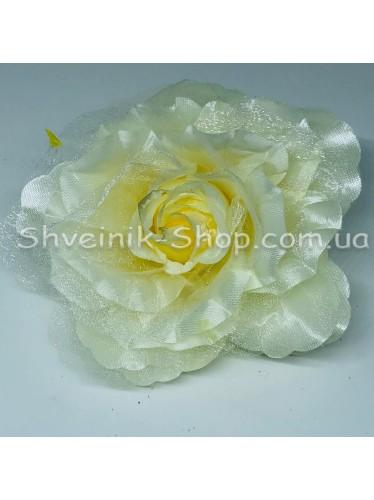 Цветы на булавке диаметр 12 см цена за шт Цвет: молоко