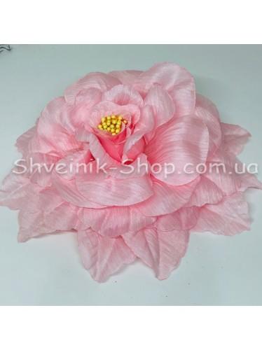 Цветы на булавке диаметр 20 см цена за шт Цвет: бледно розовый