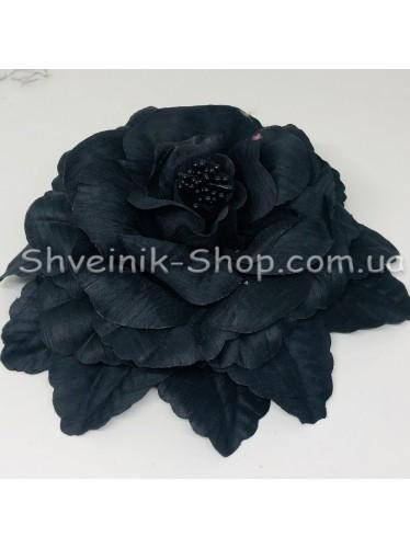 Цветы на булавке диаметр 20 см цена за шт Цвет: черный