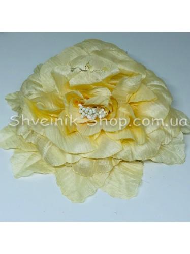 Цветы на булавке диаметр 20 см цена за шт Цвет: молоко