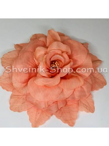 Цветы на булавке диаметр 20 см цена за шт Цвет: персик