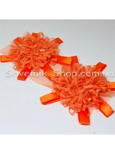 Цветы на булавке диаметр 15 см цена за шт Цвет: оранжевый