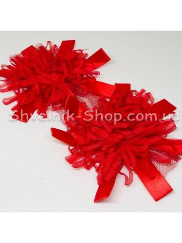 Цветы на булавке диаметр 15 см цена за шт Цвет: красный