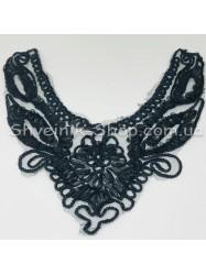Горло Вязаные Длина 25 см  Цвет Черный цена за 1 штуку