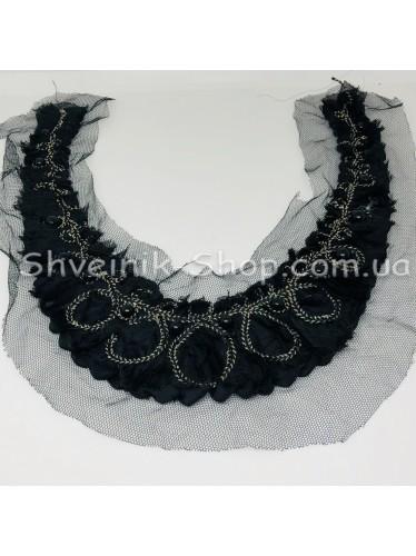 Горло Вязаное Длина 28 см Цвет Черное цена за 1 штуку