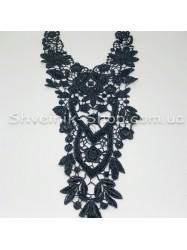 Горло Вязаное Длина 45 см Цвет Черное цена за 1 штуку