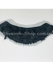 Горло Вязаное Длина 18 см Цвет Черный цена за 1 штуку