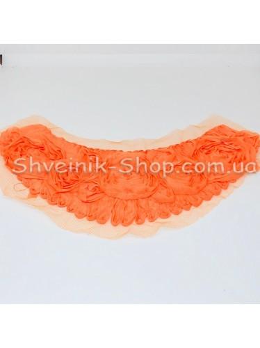 Горло Вязаное Длина 18 см Цвет Оранжевое  цена за 1 штуку